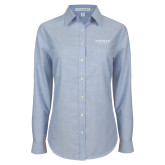 Ladies Light Blue Oxford Shirt-Pioneer Natural Resources