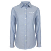 Ladies Light Blue Oxford Shirt-Pioneer Well Services