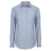Ladies Light Blue Oxford Shirt-Pioneer Water Management