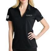 Ladies Nike Golf Dri Fit Black Micro Pique Polo-Pioneer Natural Resources