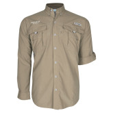 Columbia Bahama II Khaki Long Sleeve Shirt-Pioneer Well Services