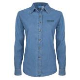 Ladies Denim Long Sleeve Shirt-Pioneer Natural Resources