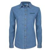 Ladies Denim Long Sleeve Shirt-Pioneer Water Management