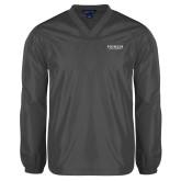 V Neck Charcoal Raglan Windshirt-Pioneer Water Management