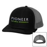 Richardson Black/Charcoal Trucker Hat-Pioneer Natural Resources