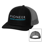 Richardson Black/Charcoal Trucker Hat-Pioneer Water Management