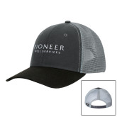 DRI DUCK Hudson Charcoal/Black Trucker Hat-Pioneer Well Services