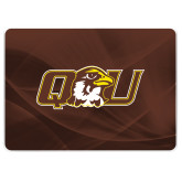 MacBook Pro 15 Inch Skin-QU Hawk Head, Background PMS 4695 Brown
