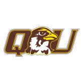 Large Decal-QU Hawk Head, 12 inches wide