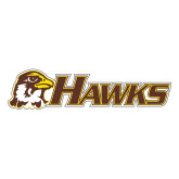 Large Decal-Hawks w/ Hawk Head, 12 inches wide