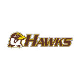 Small Decal-Hawks w/ Hawk Head, 6 inches wide