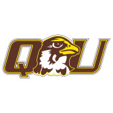 Extra Large Decal-QU Hawk Head, 18 inches wide