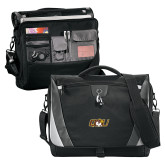 Slope Black/Grey Compu Messenger Bag-QU Hawk Head