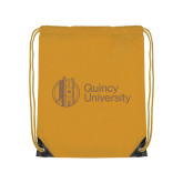 Gold Drawstring Backpack-University Mark - Tower