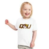 Toddler White T Shirt-QU Hawk Head