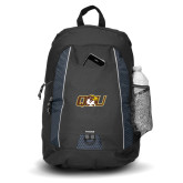 Impulse Black Backpack-QU Hawk Head