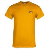 Gold T Shirt-QU Hawk Head