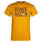 Gold T Shirt-Hawk Nation