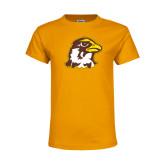 Youth Gold T Shirt-Hawk Head