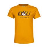 Youth Gold T Shirt-Football