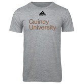 Adidas Sport Grey Logo T Shirt-Wordmark