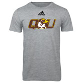 Adidas Sport Grey Logo T Shirt-QU Hawk Head
