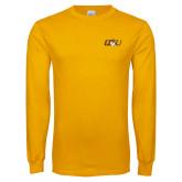 Gold Long Sleeve T Shirt-QU Hawk Head