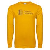 Gold Long Sleeve T Shirt-University Mark - Tower