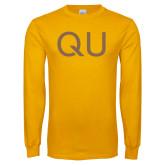 Gold Long Sleeve T Shirt-QU