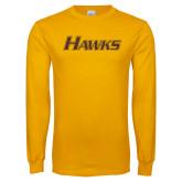 Gold Long Sleeve T Shirt-Hawks
