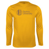 Performance Gold Longsleeve Shirt-University Mark - Tower
