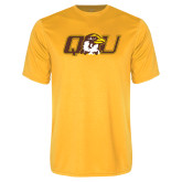 Performance Gold Tee-QU Hawk Head
