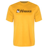 Performance Gold Tee-Hawks w/ Hawk Head