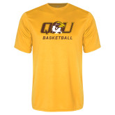 Performance Gold Tee-Basketball