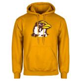 Gold Fleece Hoodie-Hawk Head
