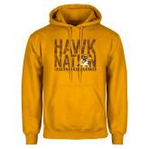 Gold Fleece Hoodie-Hawk Nation