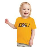 Toddler Gold T Shirt-QU Hawk Head