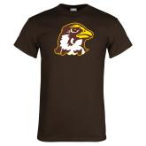 Brown T Shirt-Hawk Head