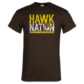 Brown T Shirt-Hawk Nation