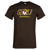 Brown T Shirt-Baseball