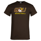Brown T Shirt-Basketball