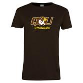 Ladies Brown T Shirt-Grandma