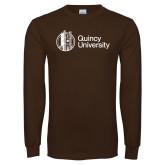 Brown Long Sleeve T Shirt-University Mark - Tower