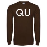 Brown Long Sleeve T Shirt-QU