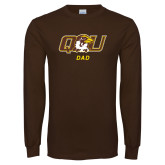Brown Long Sleeve T Shirt-Dad