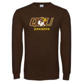 Brown Long Sleeve T Shirt-Grandpa