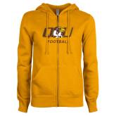 ENZA Ladies Gold Fleece Full Zip Hoodie-Football