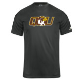 Russell Core Performance Charcoal Tee-QU Hawk Head