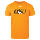 Adidas Gold Logo T Shirt-QU Hawk Head
