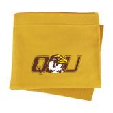 Gold Sweatshirt Blanket-QU Hawk Head